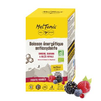 Box of 8 bags of Organic Antioxidant energy drinks - Natural red fruits flavor